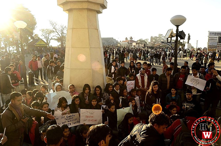ridge-shimla-protest