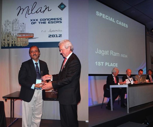 Dr-Jagat-Ram-wins-two-prestigious-international-awards-at-ESCRS-Conference-2012