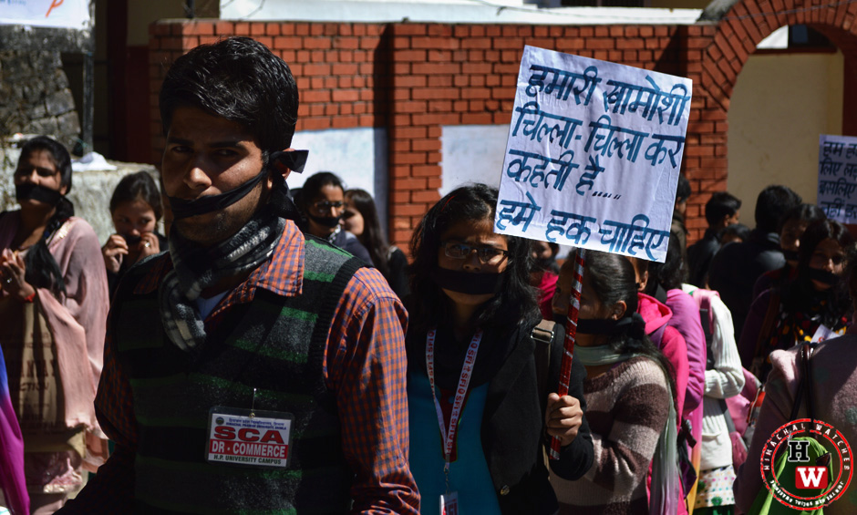 oppression of fundamental rights at shimla hpu