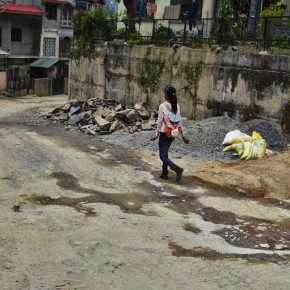 construction waste and material in new shimla