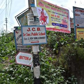 shimla's advertisment billboards