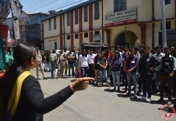 protest against shimla police 2