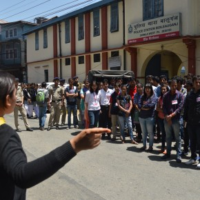 protest against shimla police