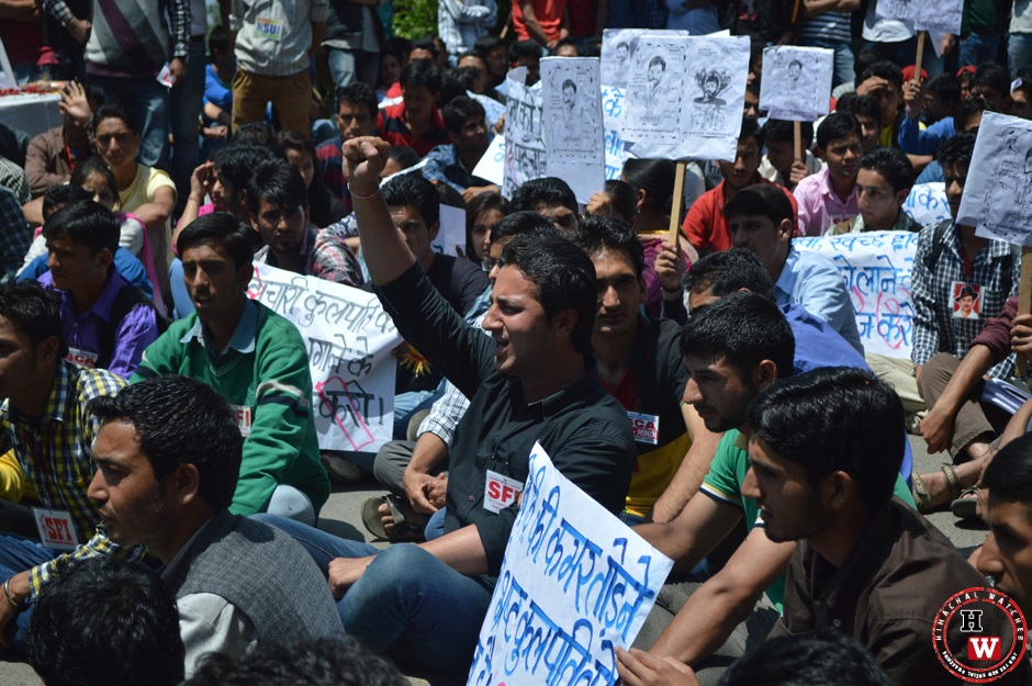 protest against vice chancellor