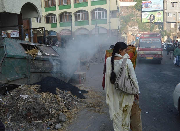 shimla burning garbage