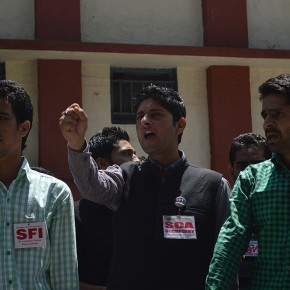 student leaders at hpu vs shimla police