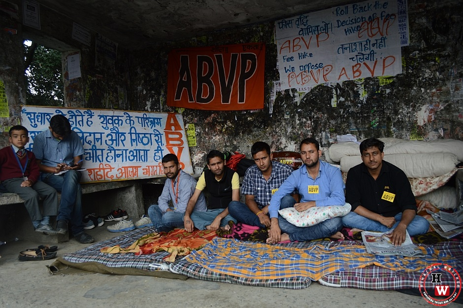 abvp protest against fee hike