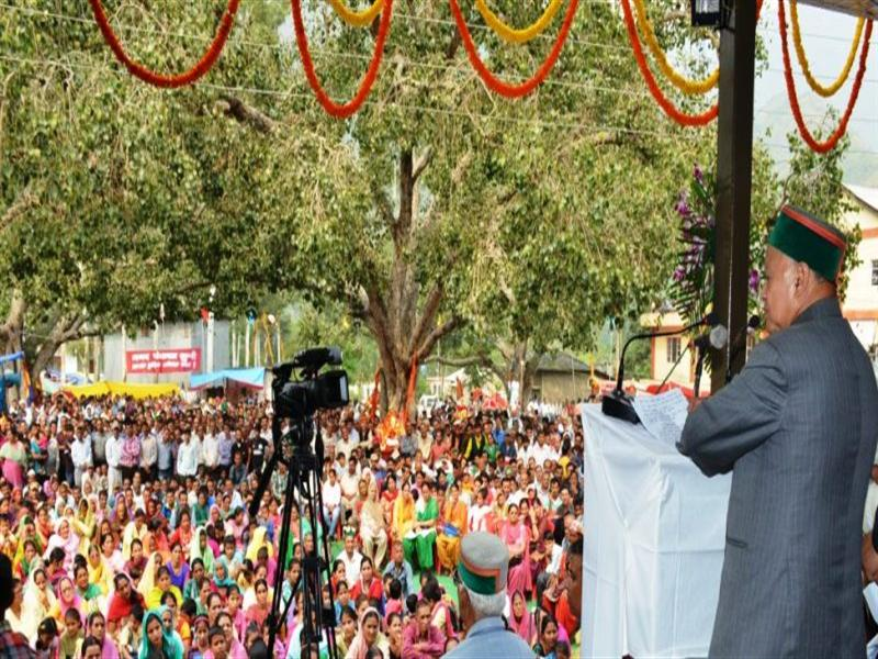 CM announces various development schemes for Shimla Rural constituency