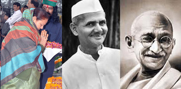 Governor pays tributes to Father of Nation and Lal Bahadur Shastri