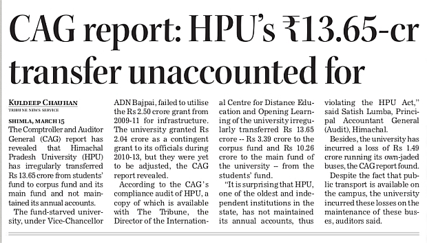 Cag reort on HPU audit