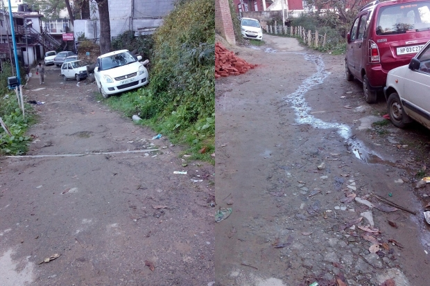 roads in finghas estate shimla