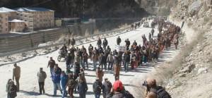 Kinnuar JP Hydro-power protest Massive protest
