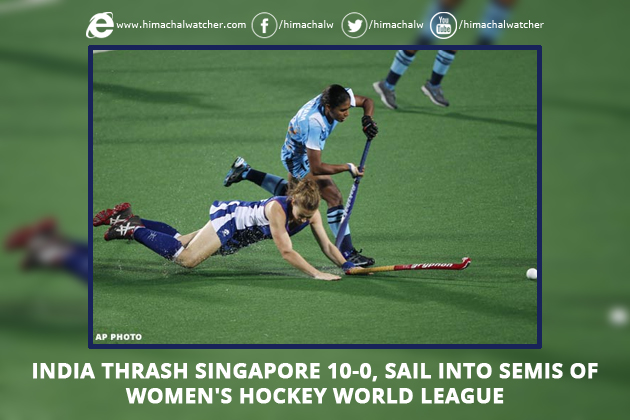 India thrash Singapore 10-0, sail into semis of Women's Hockey World League
