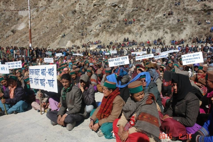 Kinnaur protest against Jaypee Hydropower 2
