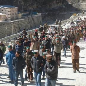 Kinnaur protest against Jaypee Hydropower  4