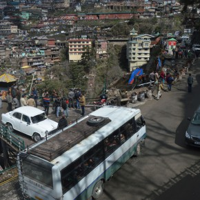 traffic-jam-shimla-near-lift-high-court