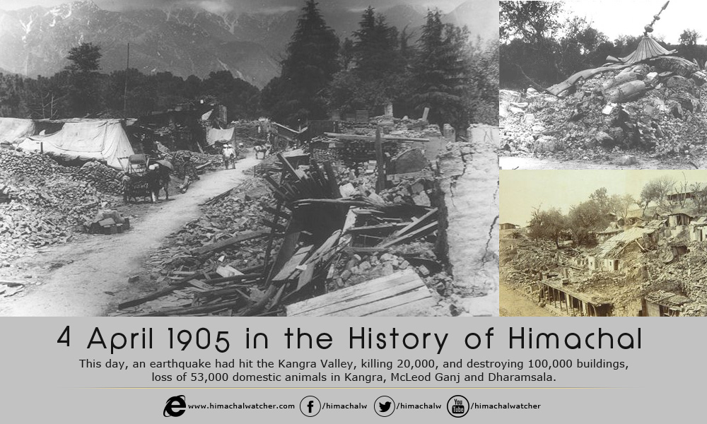 4 April 1905 in the History of Himachal
