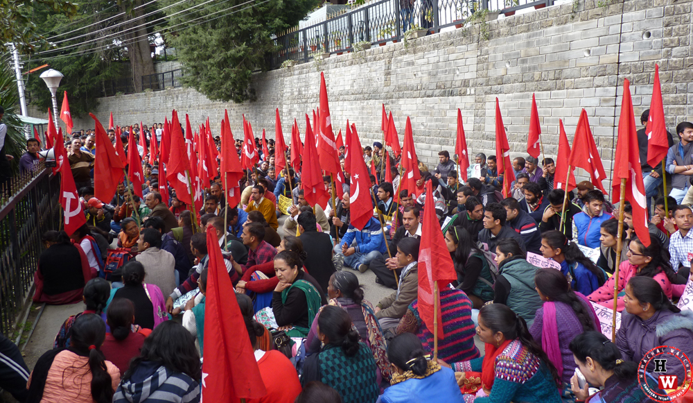 Communist Protest in Himachal