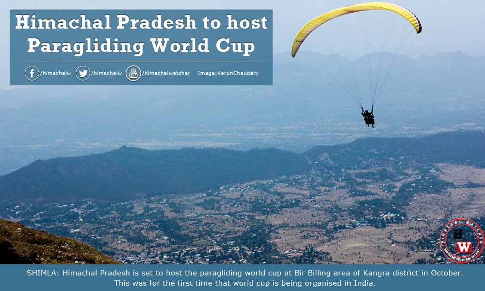 Himachal Pradesh to host Paragliding World Cup