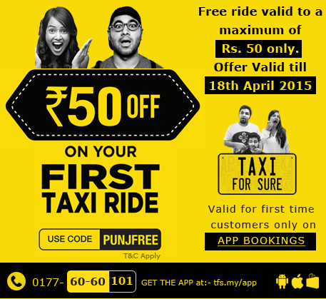 Taxi for sure coupon first ride jaipur
