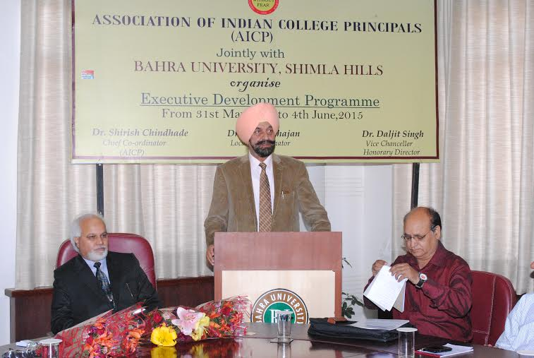 Five days Executive Development Programme (EDP) organised by Association of Indian College Principal (AICP), in collaboration with Bahra University-4