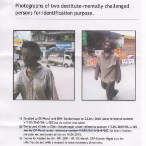 Mentally ill destitute in Sundarnagar