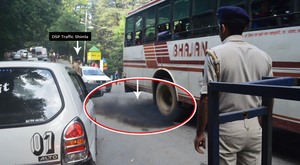 dsp-traffic-police-amit-thakur-air-pollution-talland-shimla