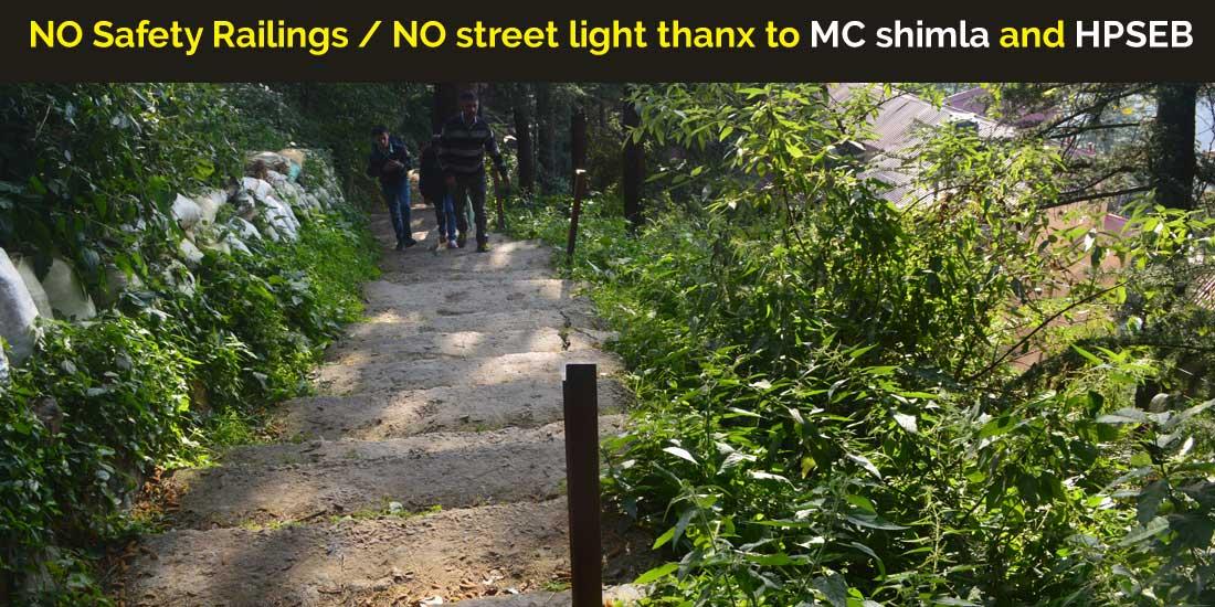 NO-Safety-Railings-NO-street-light-thanx-to-MC-shimla-and-HPSEB
