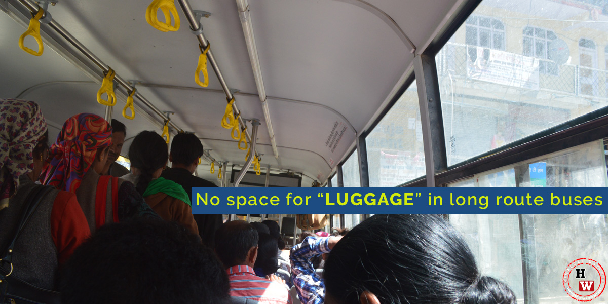 No-space-for-LUGGAGE--in-long-route-buses-HRTC-shimla-chopal