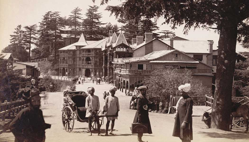 Post-office-and-Bank-buildings,-Mall-Road,-Shimla