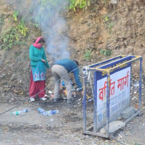 burning garbage in open IGMC shimla-MC Shimla