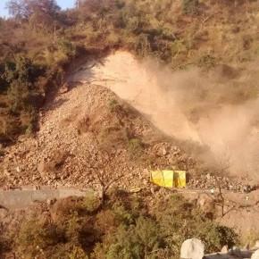 Landslide near Parwanoo