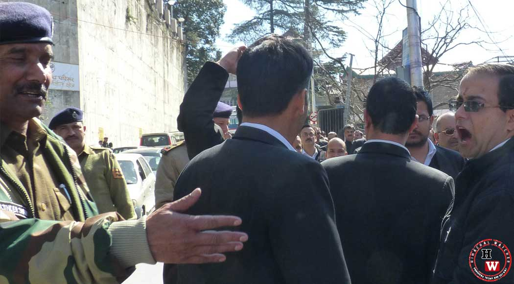 High-court-Advocates-Protest-Against-MC-Shimla