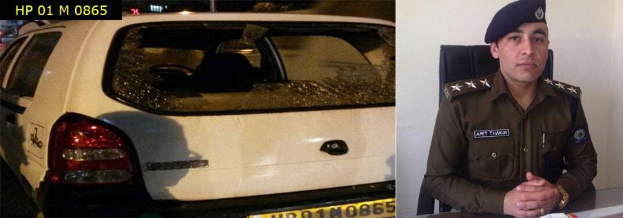 dsp-amit-thakur-clash-with-taxi-driver-near-old-isbt-shimla-gurudwara