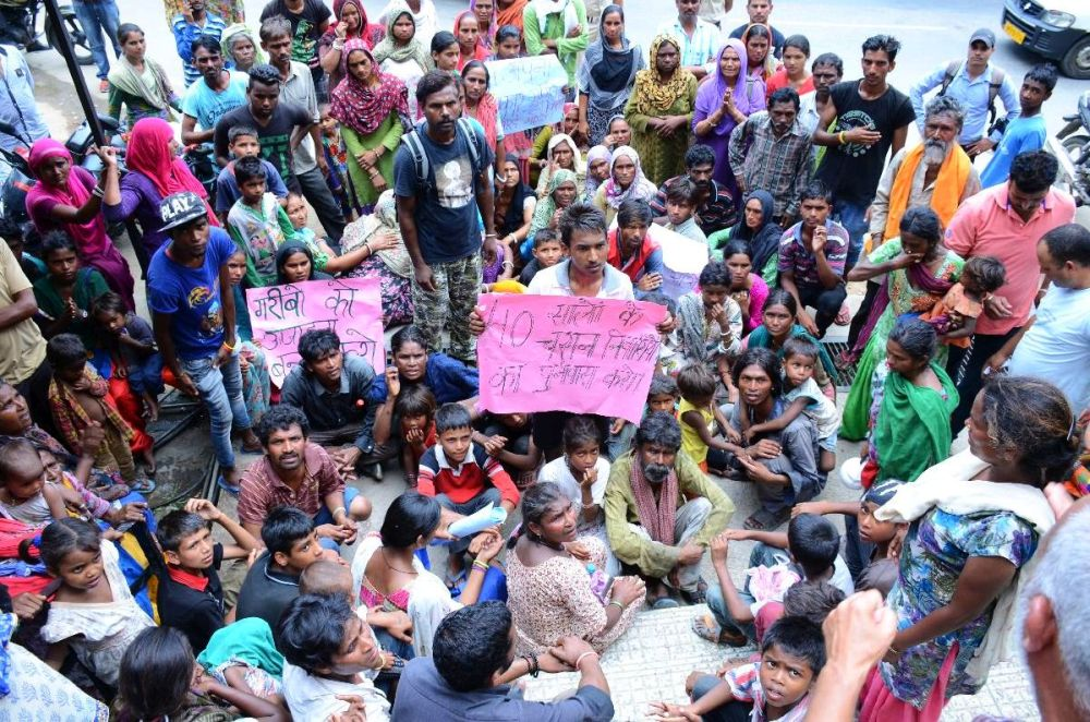 Dharamshala Slum Protest