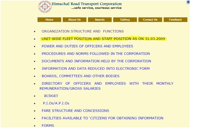 HP Government RTI