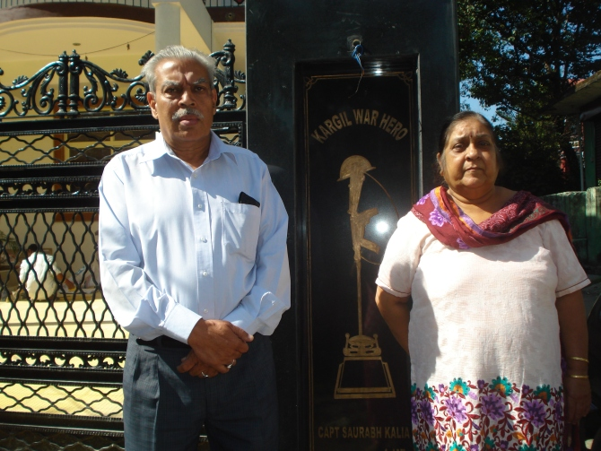 Parents of saurabh kaliya