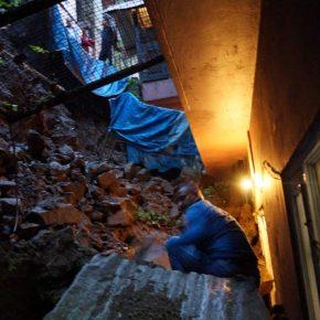 shimla retaining wall collapse
