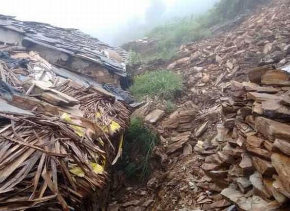 Landslide in Sirmaur