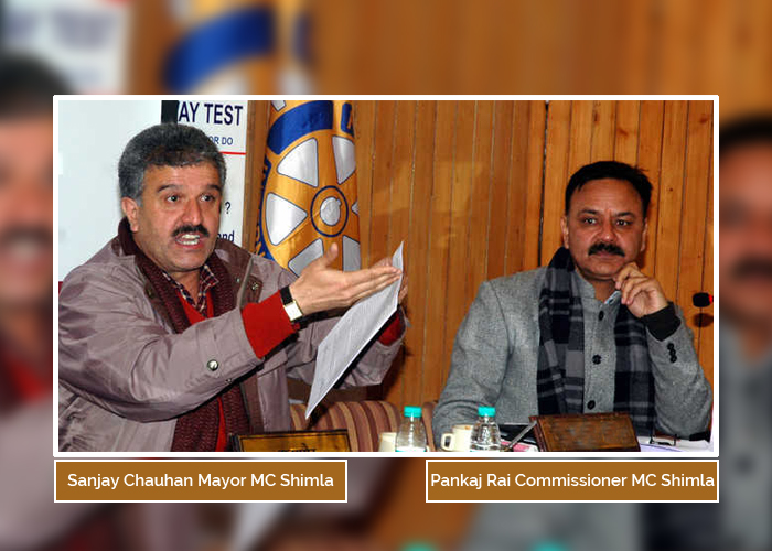 sanjay-chauhan-pankaj-rai-Commissioner-mc-shimla