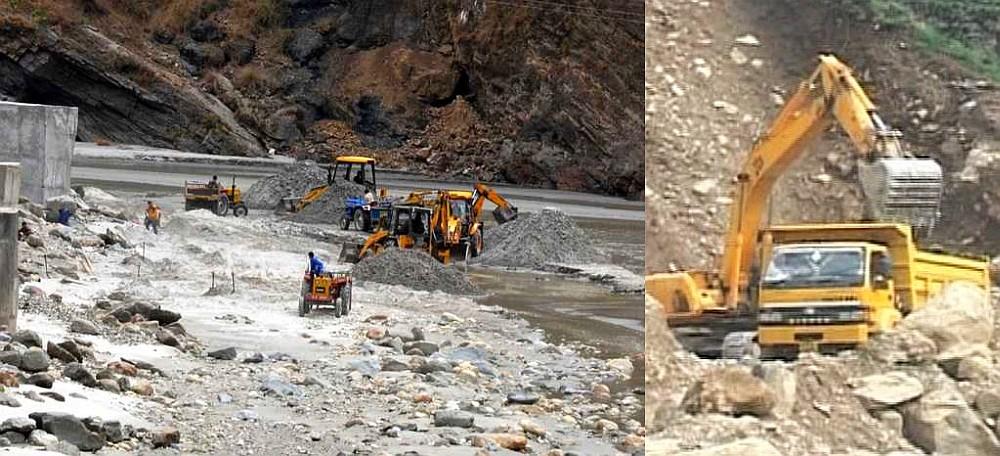 Illegal mining himachal pradesh