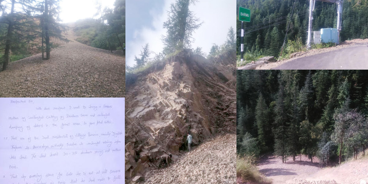 unlawful-mining-and-causing-damages-to-the-numbers-of-devdaar-trees-save-trees-barmu-village-shimla