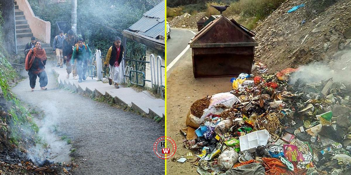 shimla-garbage-burning-mc-shimla