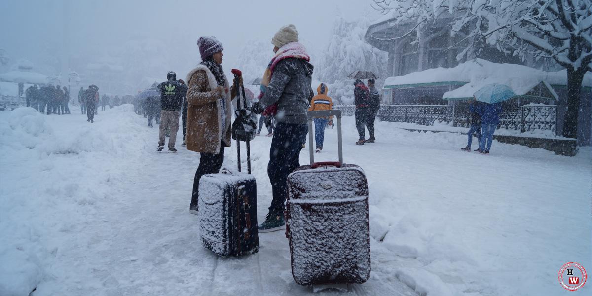 Snowfall Pictures, Shimla Snowfall 2017, Shimla Ridge, Travel, Tourism, Landscape, Shimla Winters