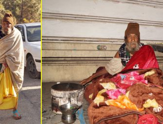 Shimla-based NGO seeks rescue of an homeless, ailing elderly man living in rain-shelter lest he dies of cold