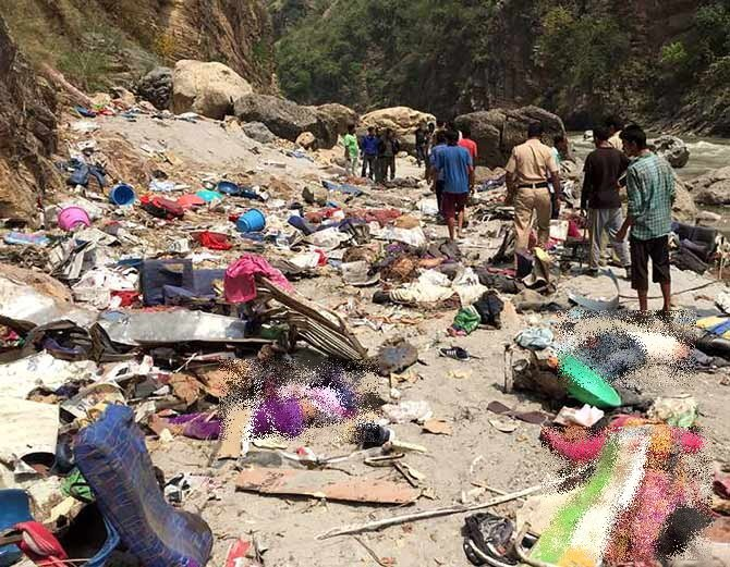 himachal bus accident photos 2