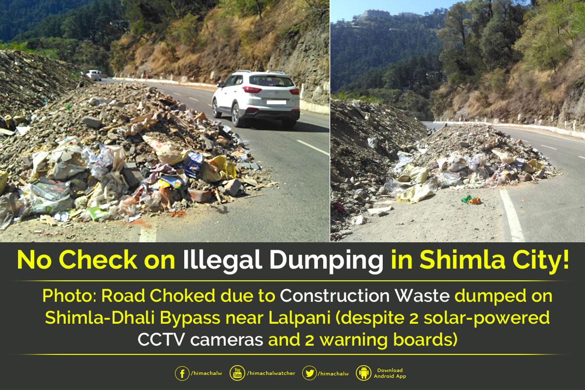 Lalpani-Shimla-Dhalli-bypass-illegal-dumping