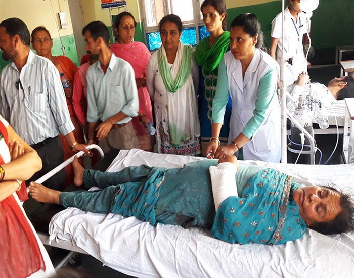 Ramlok mandi baba attacks woman in solan