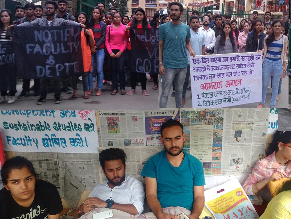 HP University fast unto death protest