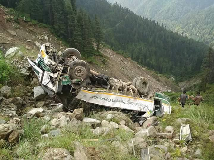 Kullu bus accident video 3